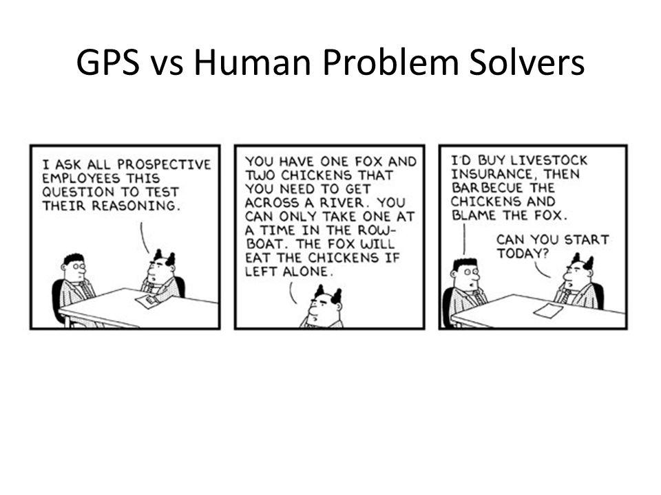 GPS vs Human Problem Solvers