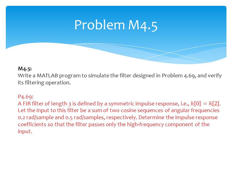 Problem M4.5