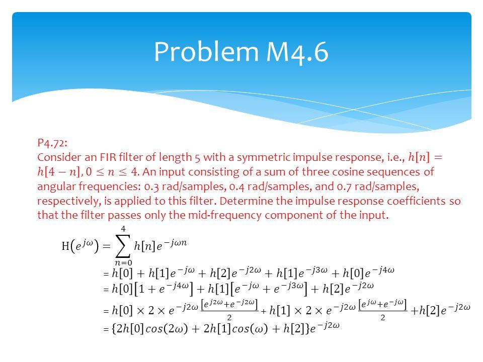 Problem M4.6