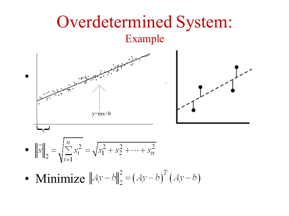 Overdetermined System: Example Minimize