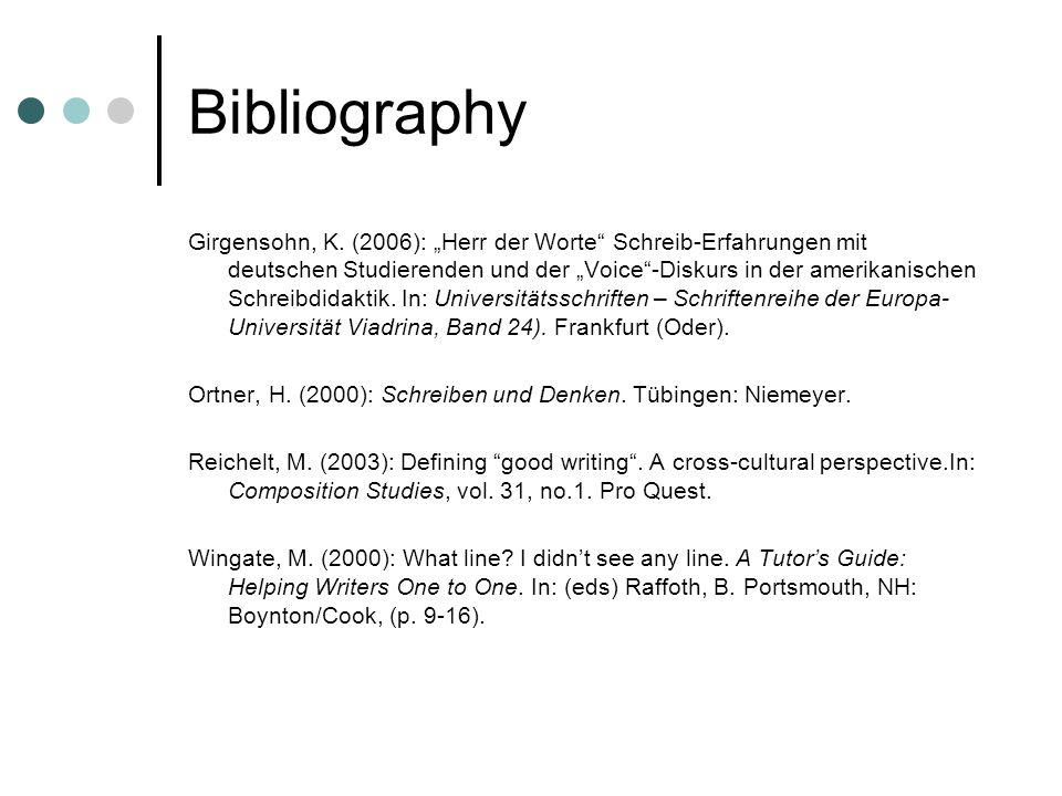 Bibliography Girgensohn, K.
