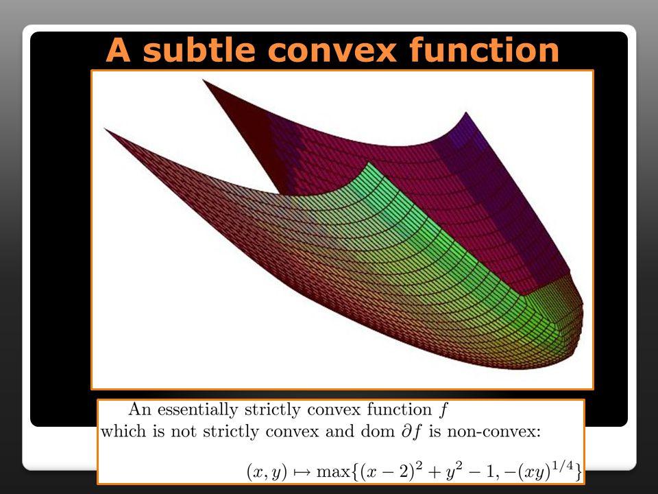 A subtle convex function