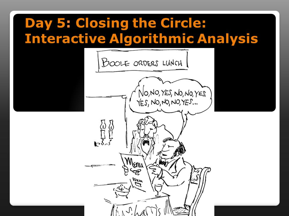 Day 5: Closing the Circle: Interactive Algorithmic Analysis