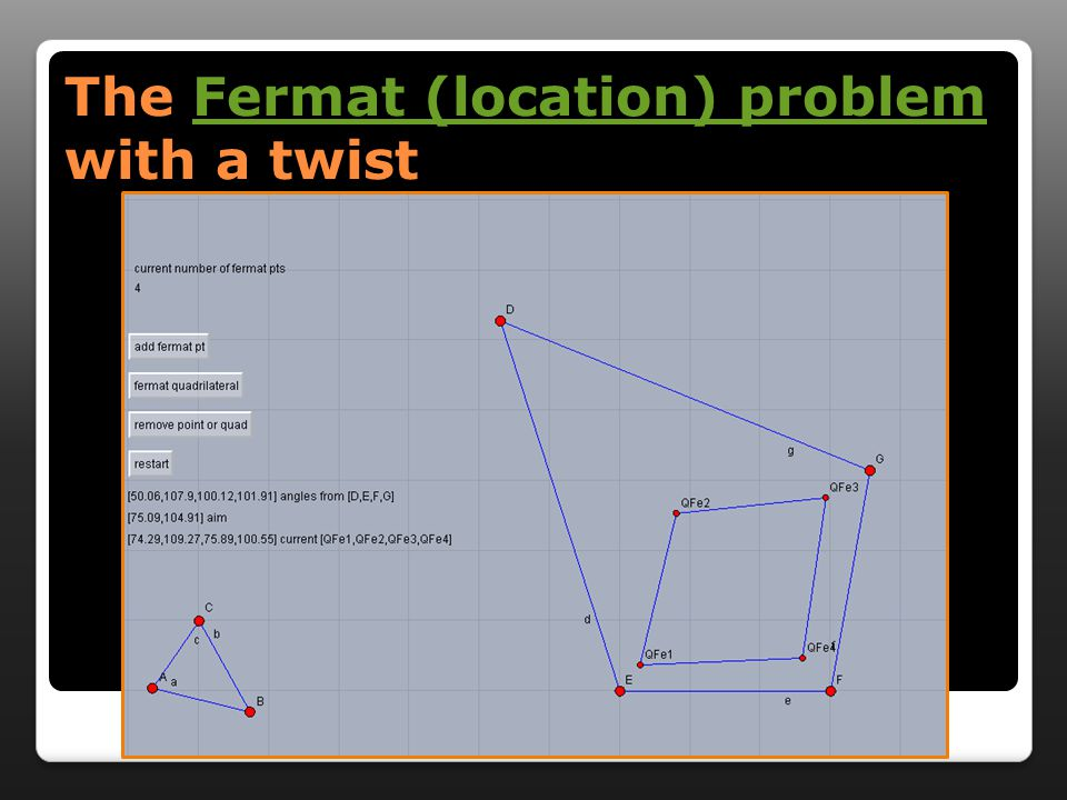 The Fermat (location) problem with a twist Fermat (location) problemFermat (location) problem