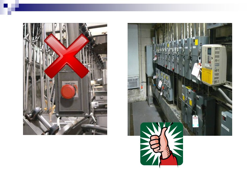 Lockout procedure – Step 5 LOCKOUT OR TAGOUT DEVICE APPLICATION  Affixed by authorized employee holding energy isolating device in the safe or off po