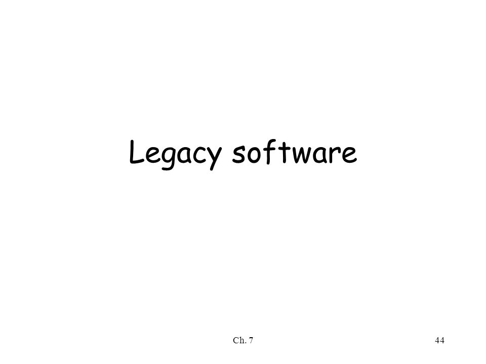 Ch. 744 Legacy software