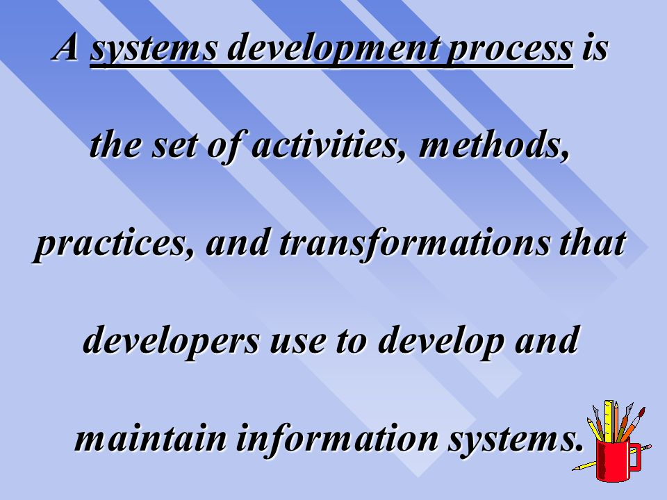 Software Process Improvement is the name given to the identification of the current state- of-the-practice of information systems development within an organization and then improving it.