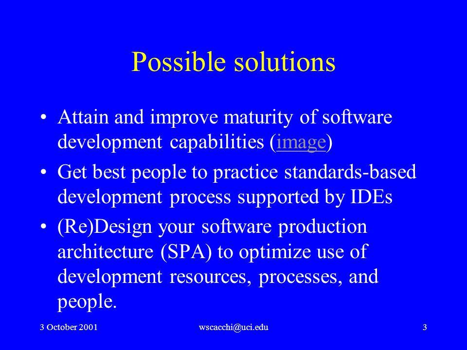 3 October 2001wscacchi@uci.edu34 Process-driven intranets
