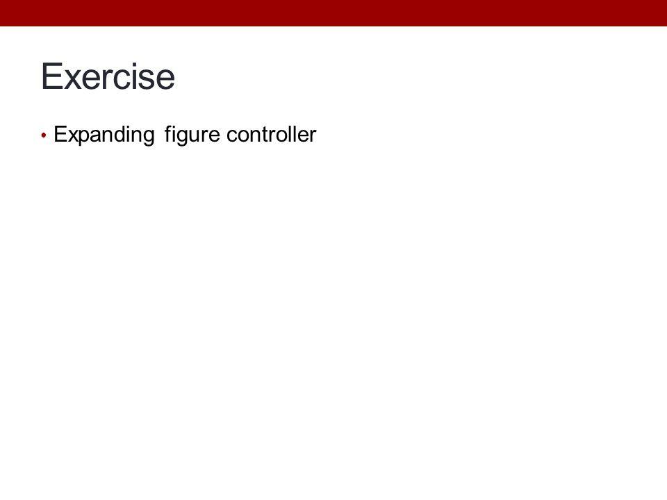 Exercise Expanding figure controller