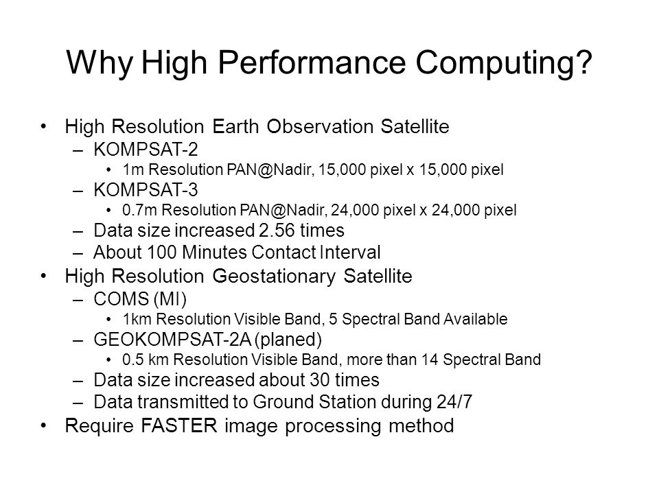 Why High Performance Computing.