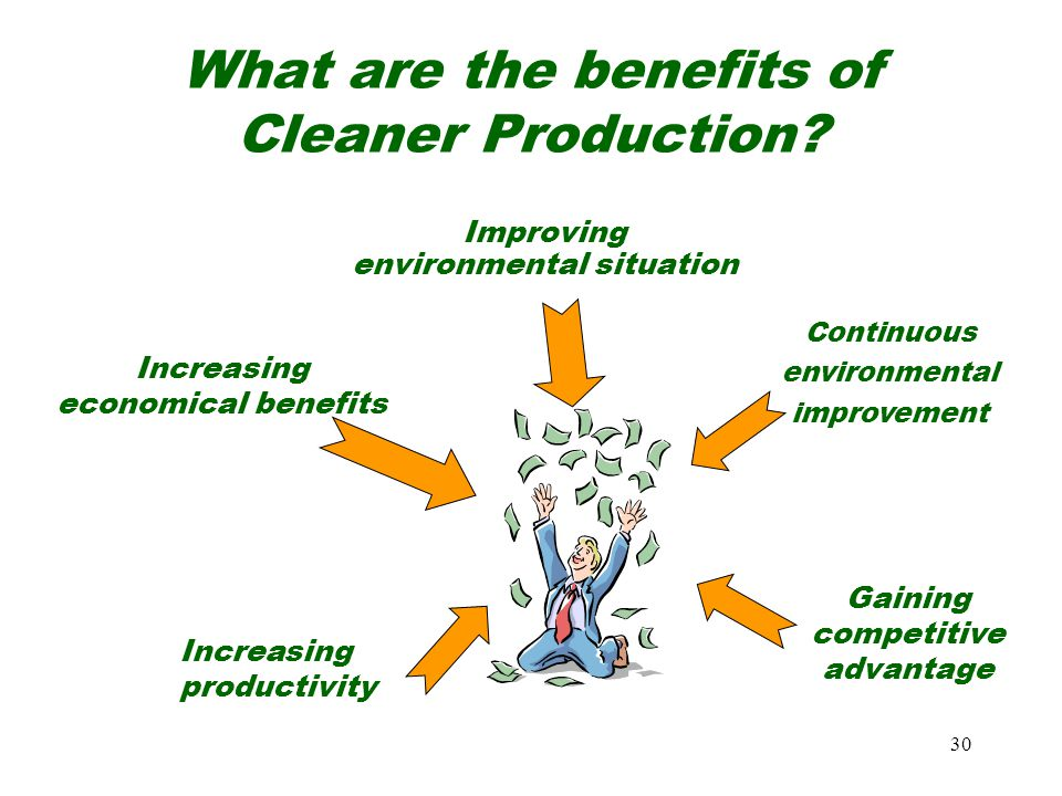 30 What are the benefits of Cleaner Production.