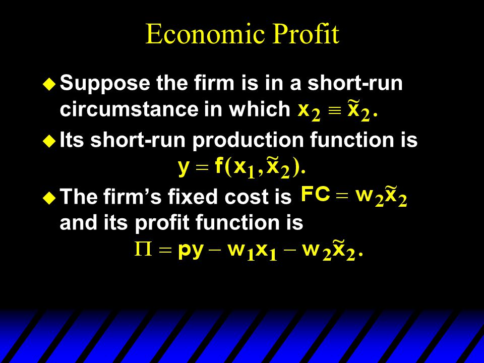 Long-Run Profit-Maximization The equation of a long-run iso-profit line is so an increase in x 2 causes -- no change to the slope, and -- an increase in the vertical intercept.