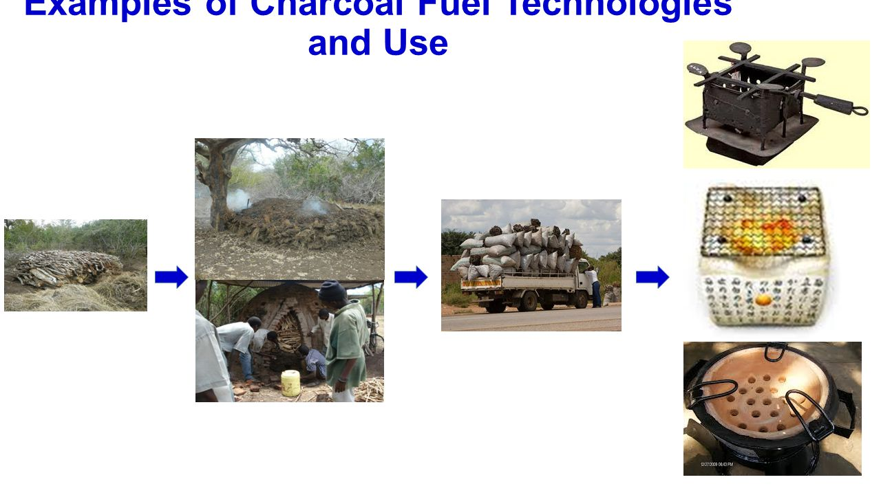 Examples of Charcoal Fuel Technologies and Use