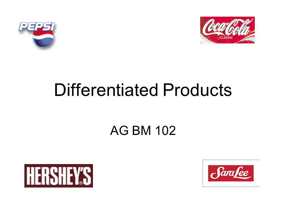 Differentiated Products AG BM 102