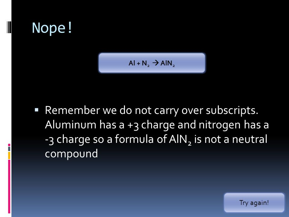 Nope. Remember we do not carry over subscripts.