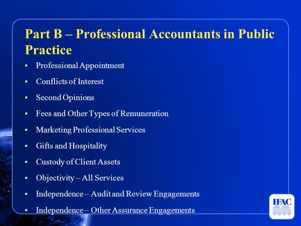 Professional Appointment Conflicts of Interest Second Opinions Fees and Other Types of Remuneration Marketing Professional Services Gifts and Hospital