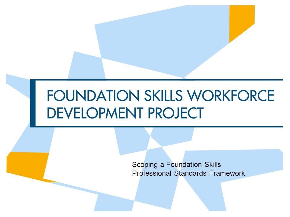 Scoping a Foundation Skills Professional Standards Framework