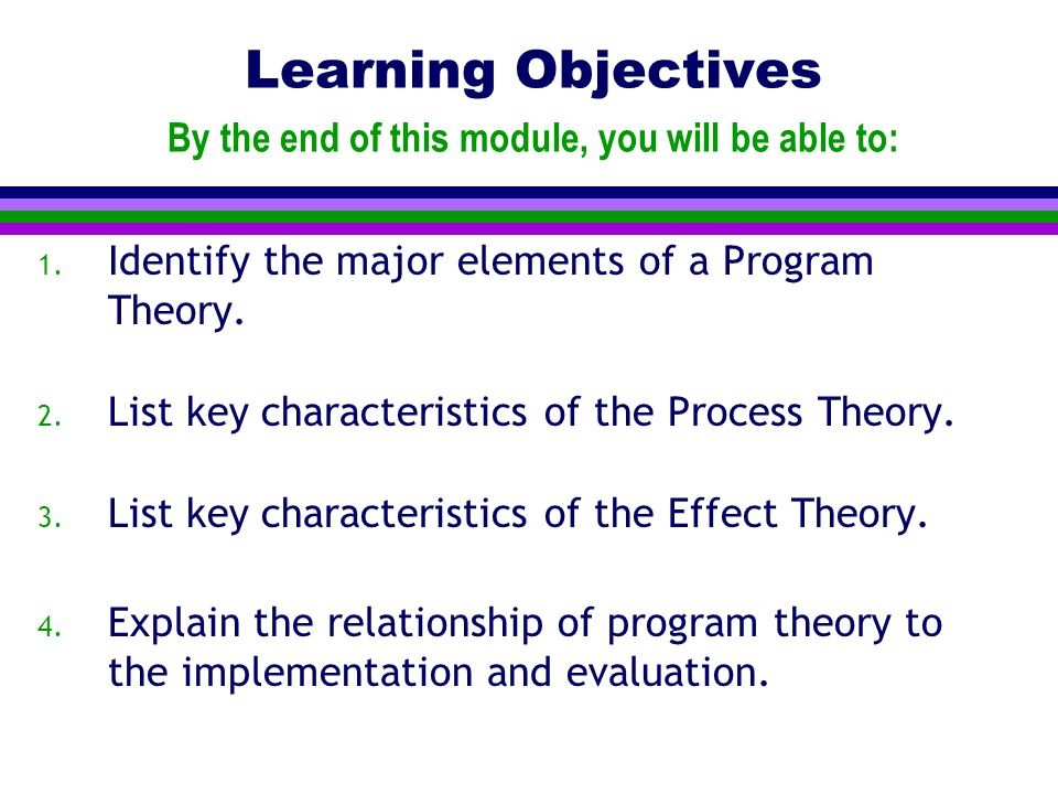 Learning Objectives By the end of this module, you will be able to: 1.