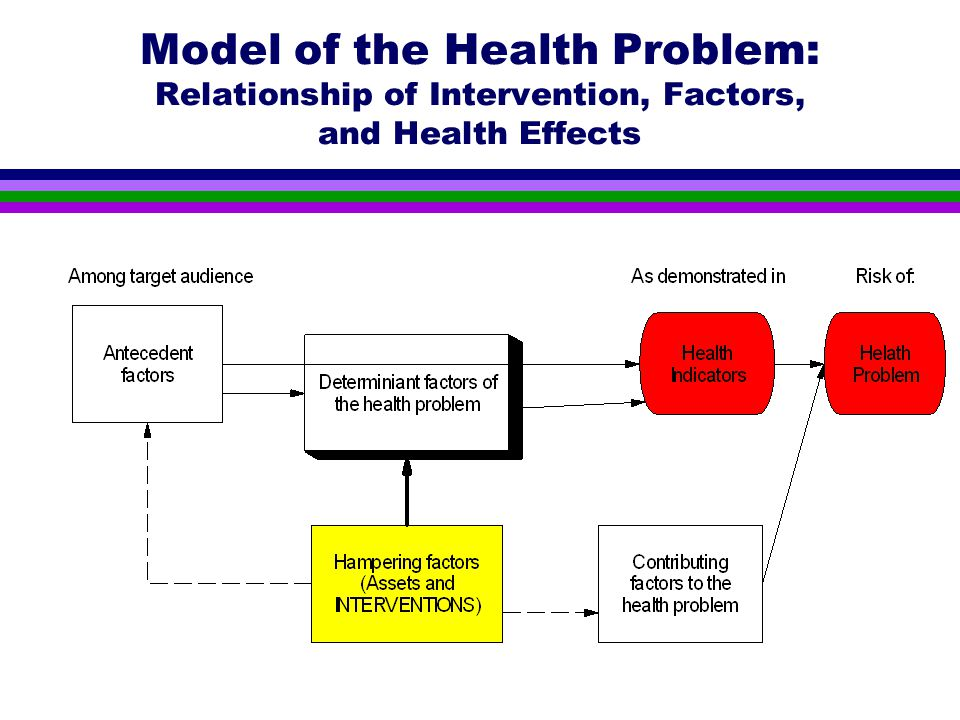 Model of the Health Problem: Relationship of Intervention, Factors, and Health Effects