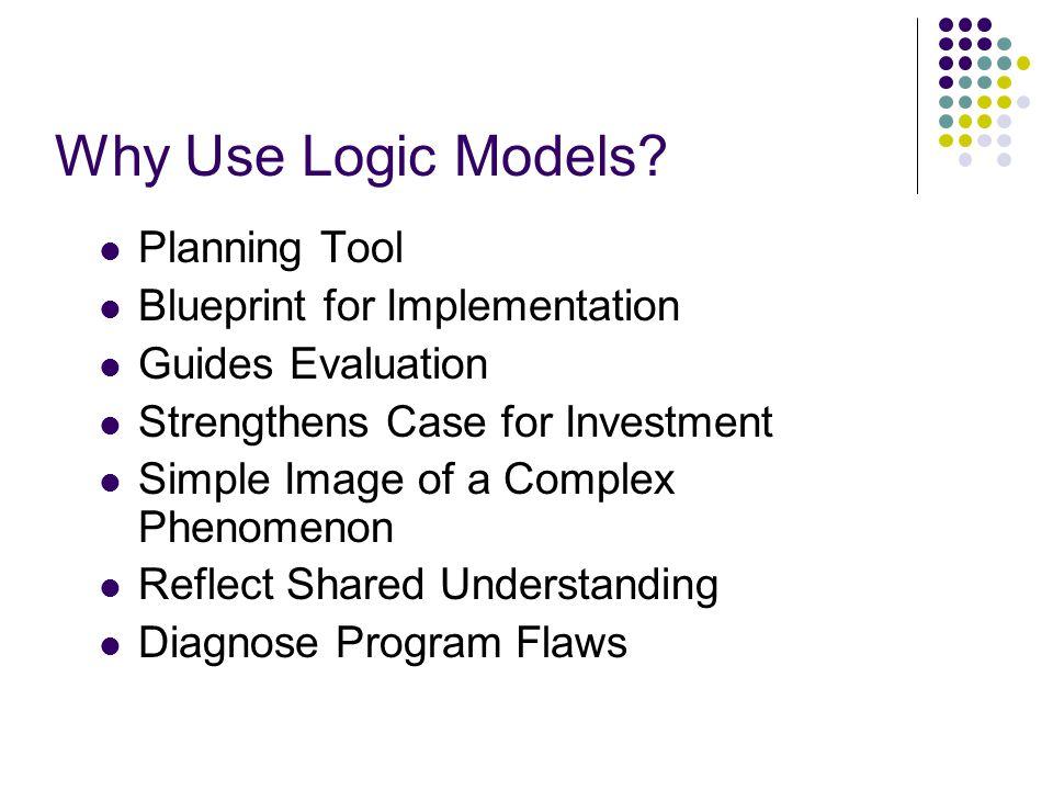 Why Use Logic Models.