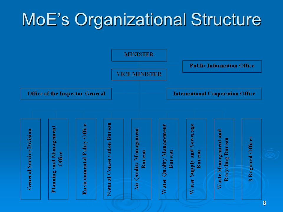 8 MoE's Organizational Structure