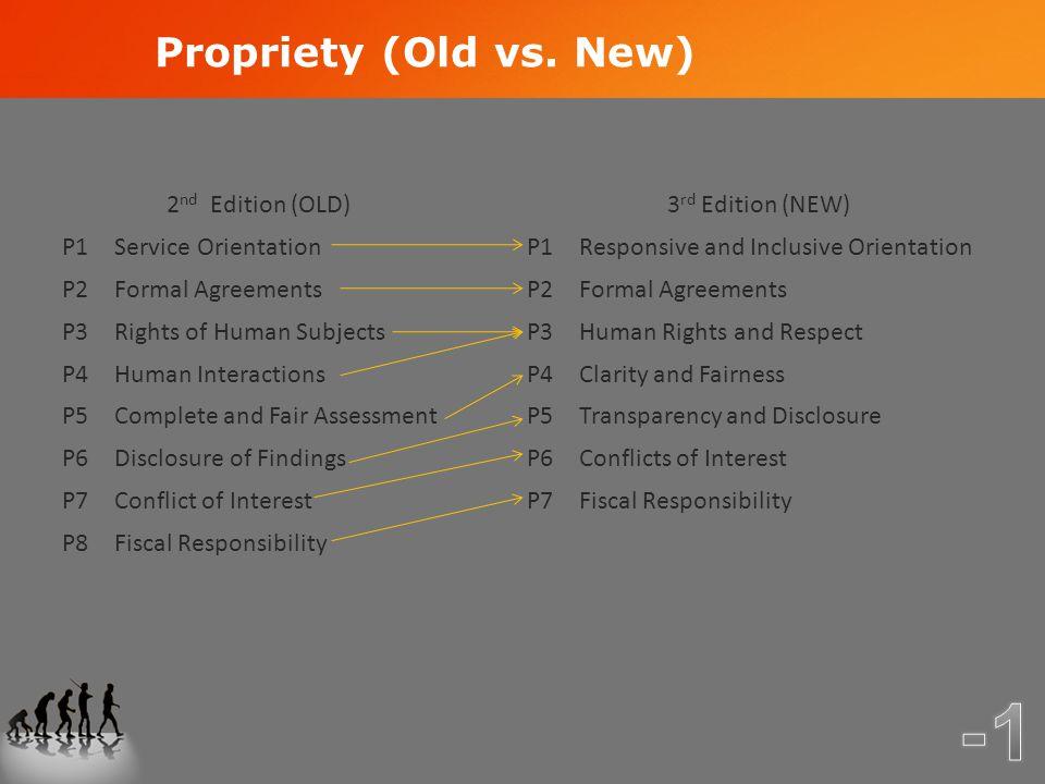 Propriety (Old vs.