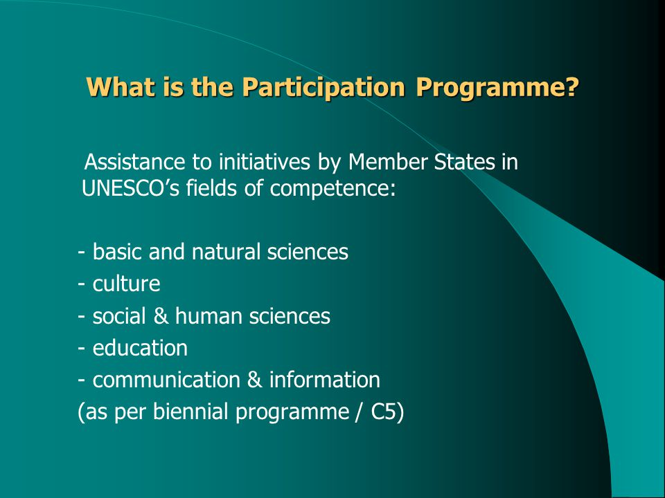 What is the Participation Programme.