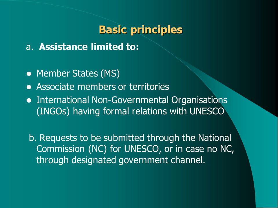 Basic principles Basic principles a.