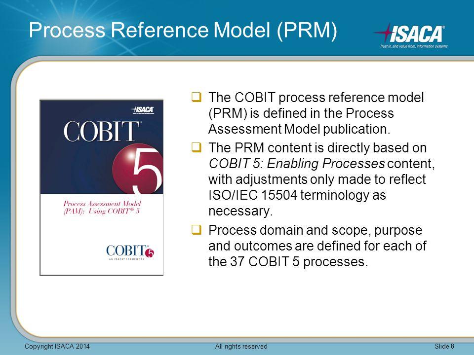 Process Reference Model (PRM)  The COBIT process reference model (PRM) is defined in the Process Assessment Model publication.
