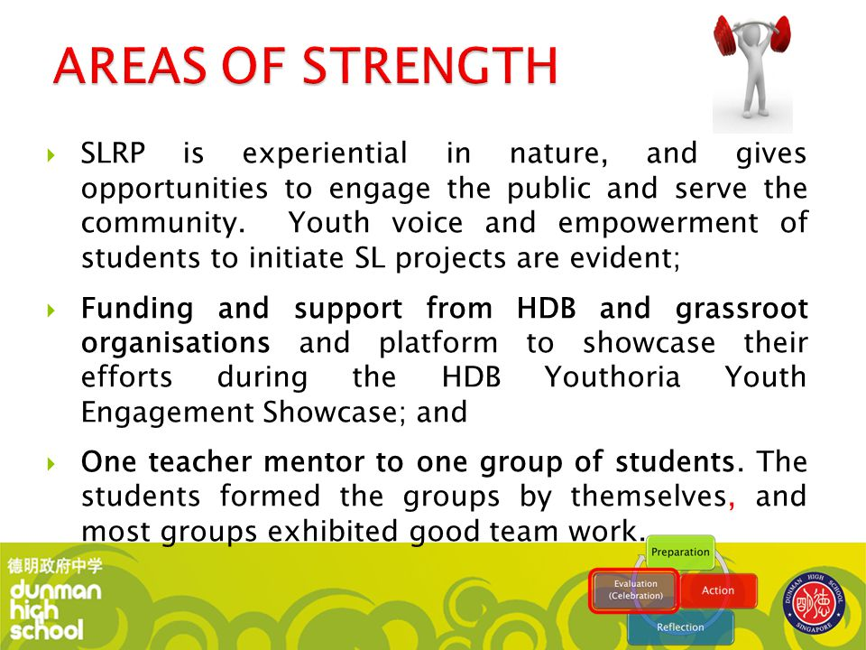  SLRP is experiential in nature, and gives opportunities to engage the public and serve the community. Youth voice and empowerment of students to ini