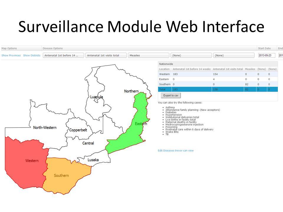 Surveillance Module Web Interface