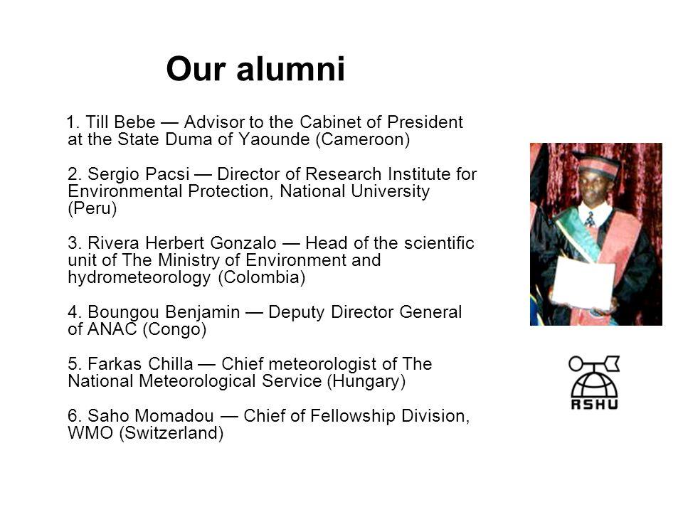 Our alumni 1.
