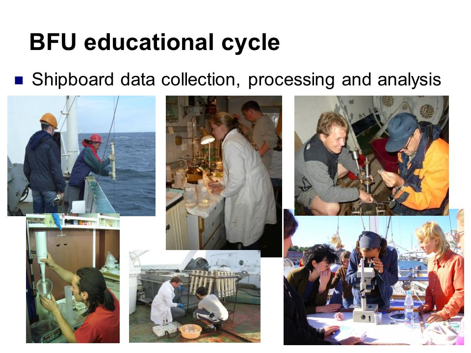 BFU educational cycle Shipboard data collection, processing and analysis