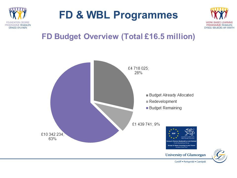 FD & WBL Programmes FD Budget Overview (Total £16.5 million)