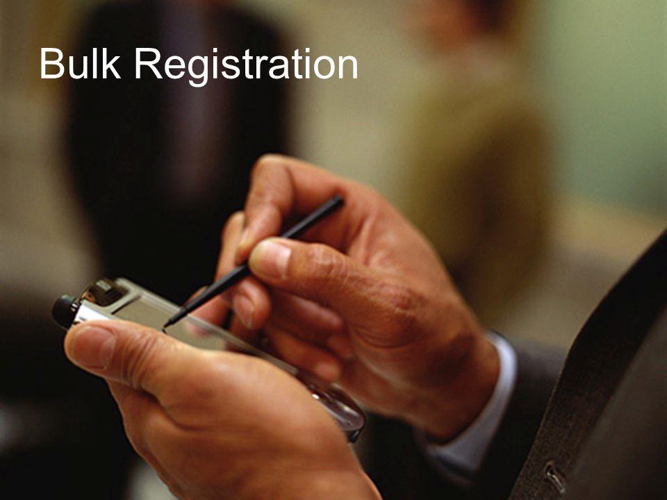 August 2005HP Restricted 25 Bulk Registration