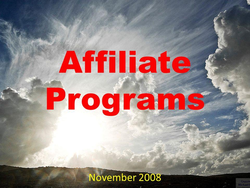 Affiliate Programs November 2008