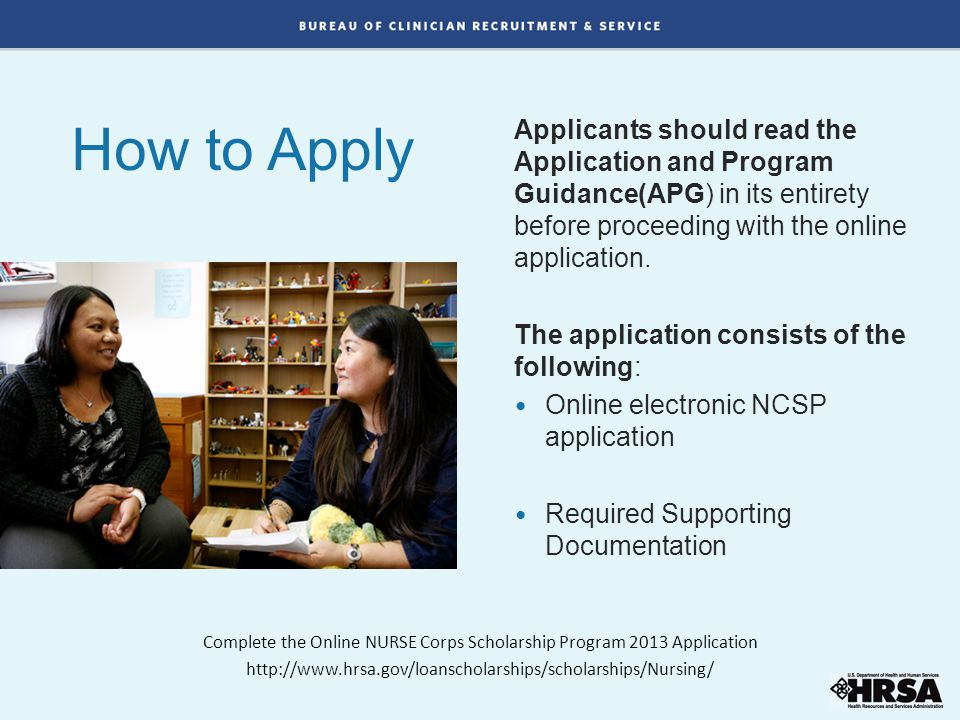 How to Apply Applicants should read the Application and Program Guidance(APG) in its entirety before proceeding with the online application. The appli