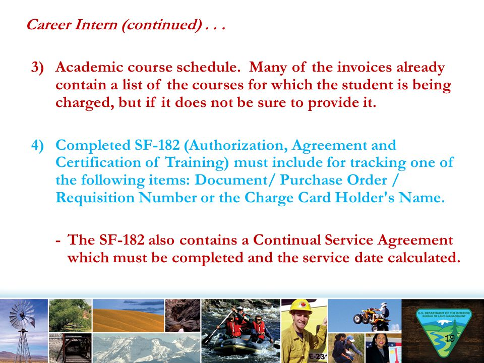 Career Intern (continued)... 3)Academic course schedule. Many of the invoices already contain a list of the courses for which the student is being cha