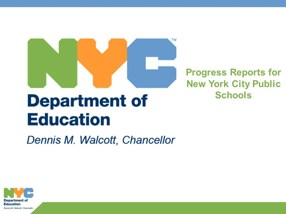 2 PROGRESS REPORTS 1.Overview 2.Measuring student performance and progress for elementary and middle schools 3.Measuring progress and performance for high schools 4.Evaluating the school learning environment 5.Peer and city comparisons 6.Additional credit for closing the achievement gap 7.Translating scores into grades
