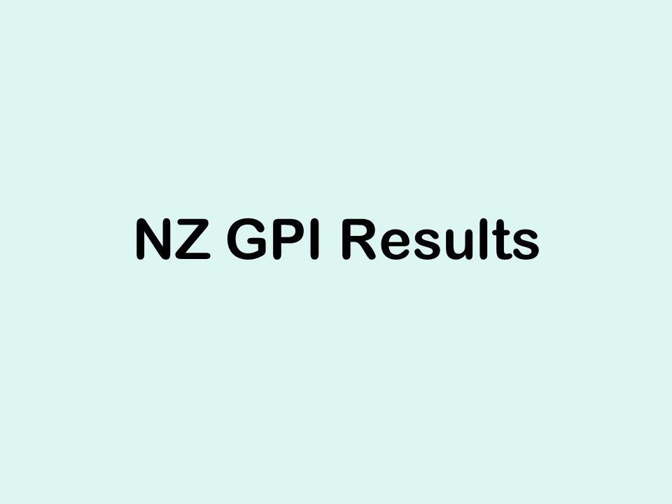 NZ GPI Results