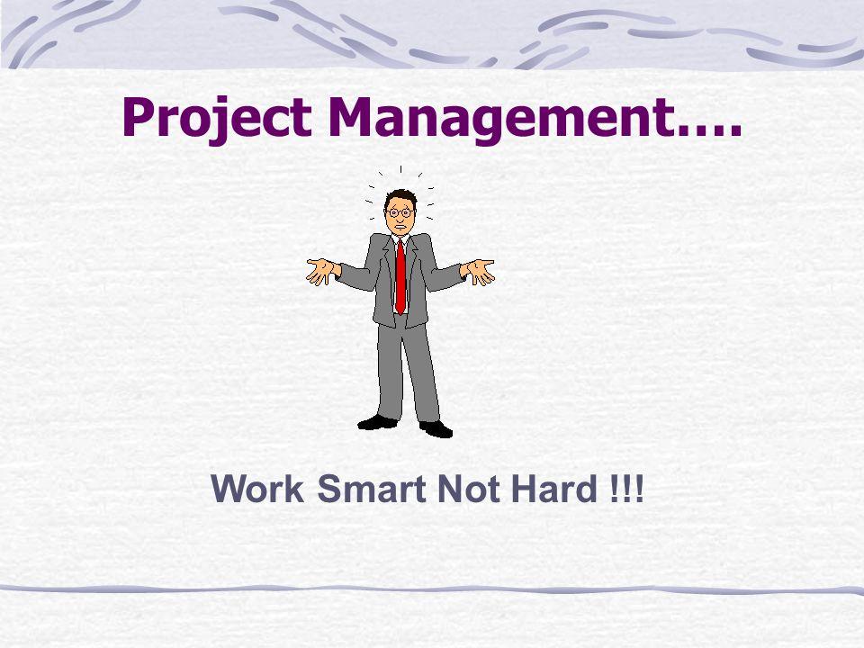 Project Management…. Work Smart Not Hard !!!