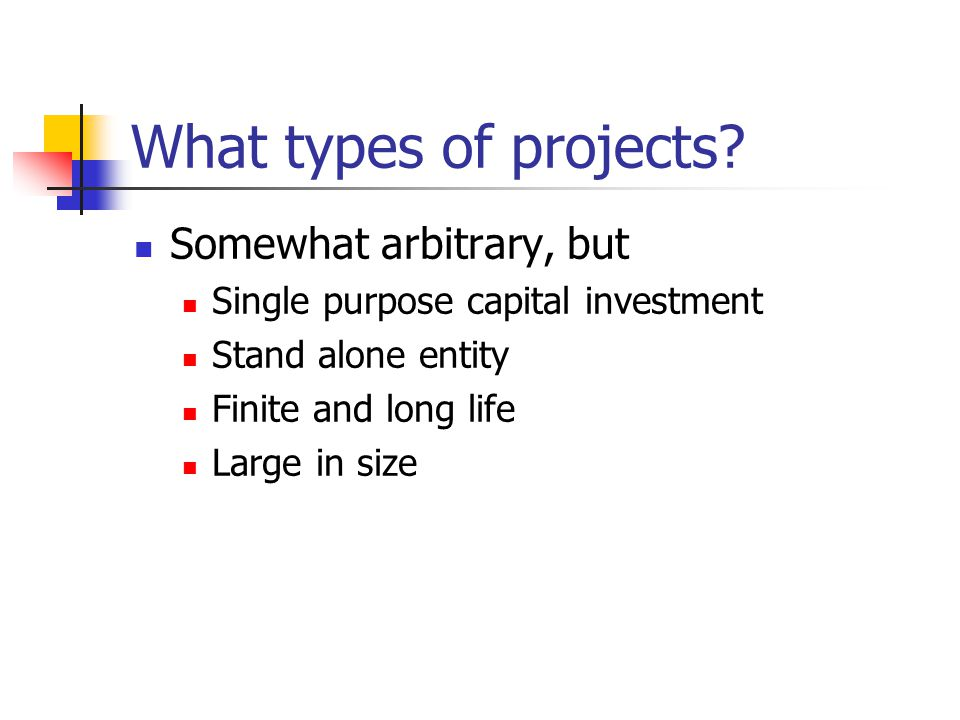 Project finance versus conventional financing Modigliani Miller still holds if its assumptions are true if there were no taxes or transactions costs no costs of financial distress no agency conflicts no information costs THEN PROJECT FINANCE WOULD ADD NO VALUE RELATIVE TO CONV.