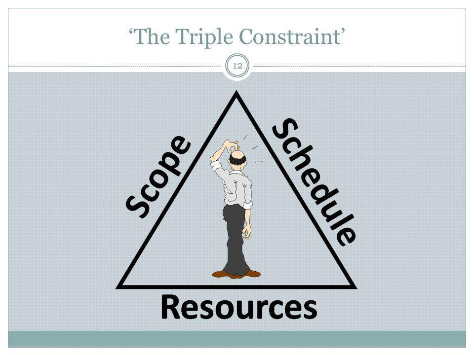 'The Triple Constraint' 12