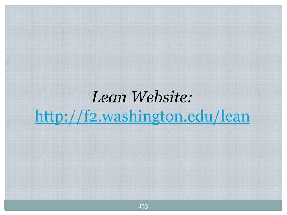 153 Lean Website: http://f2.washington.edu/lean
