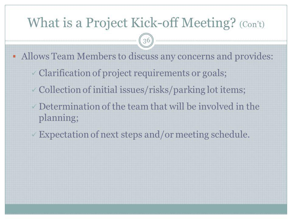 What is a Project Kick-off Meeting.
