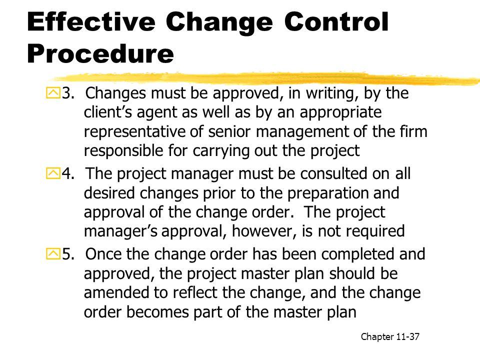 Effective Change Control Procedure y3.