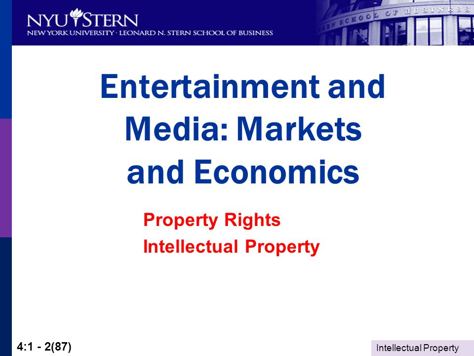 Intellectual Property 4:1 - 73(87)