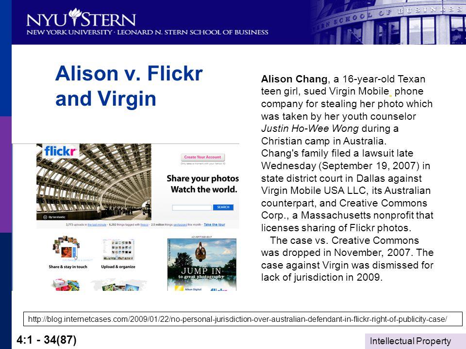 Intellectual Property 4:1 - 34(87) Alison v.