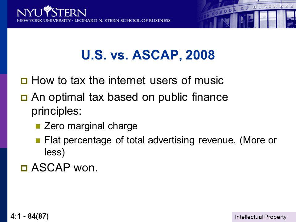 Intellectual Property 4:1 - 84(87) U.S. vs.