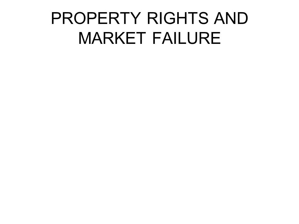 PROPERTY RIGHTS AND MARKET FAILURE